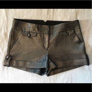 Express metallic dress shorts